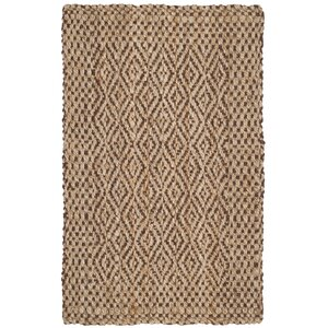Oakdale Fiber Hand-Woven Natural/Brown Area Rug