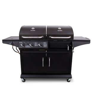 Char-Broil 3-Burner Flat Top Liquid Propane Gas Grill With Side Burner And Cabinet By Char-Broil