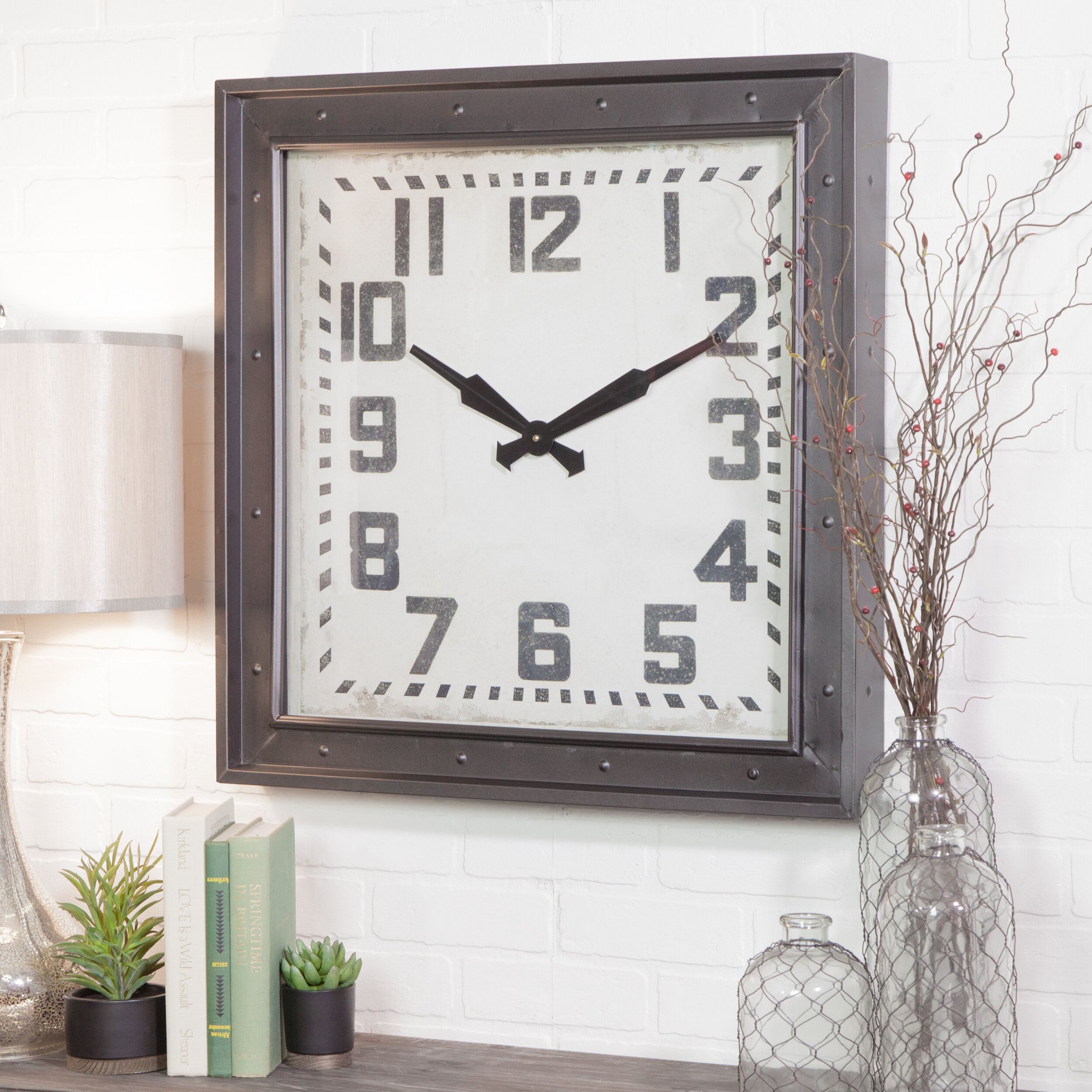 Aspire Westford Square Wall Clock U0026 Reviews | Wayfair