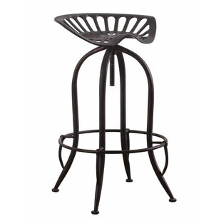 Williston Forge Mccloud Adjustable Height Swivel Bar Stool