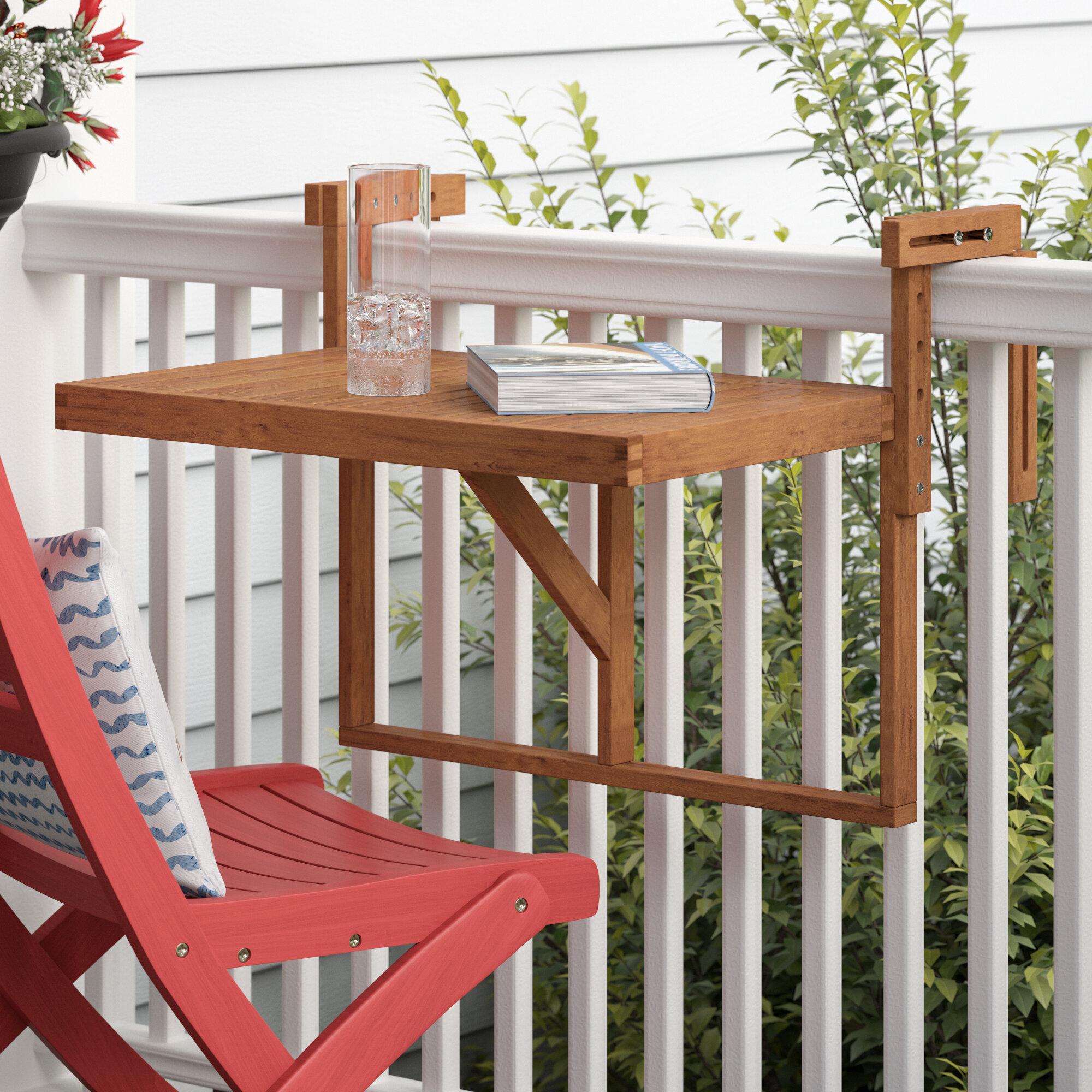 Table Pour Balcon Étroit table de balcon en bois massif boulware