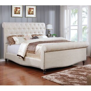 Best Quality Furniture Upholstered Sleigh Bed
