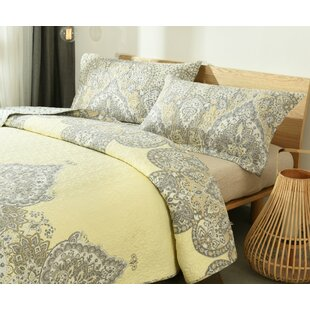 Mauro Pale Daffodil Reversible Quilt Set