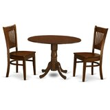 Aimee 3 Piece Dining Set by August Grove®