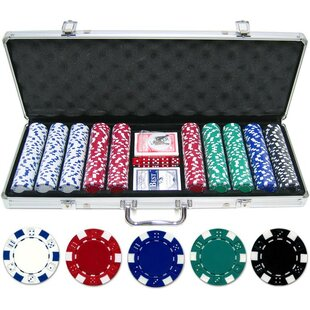 500 Piece Dice Poker Chip by JP Commerce