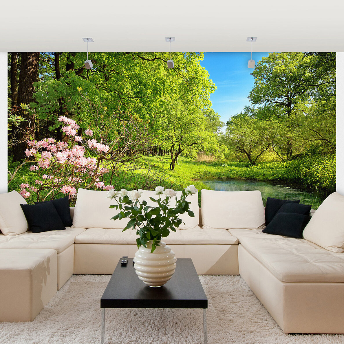 Union Rustic Motter Park In The Spring 8 4 L X 144 W 8 Panel Wall Mural Wayfair