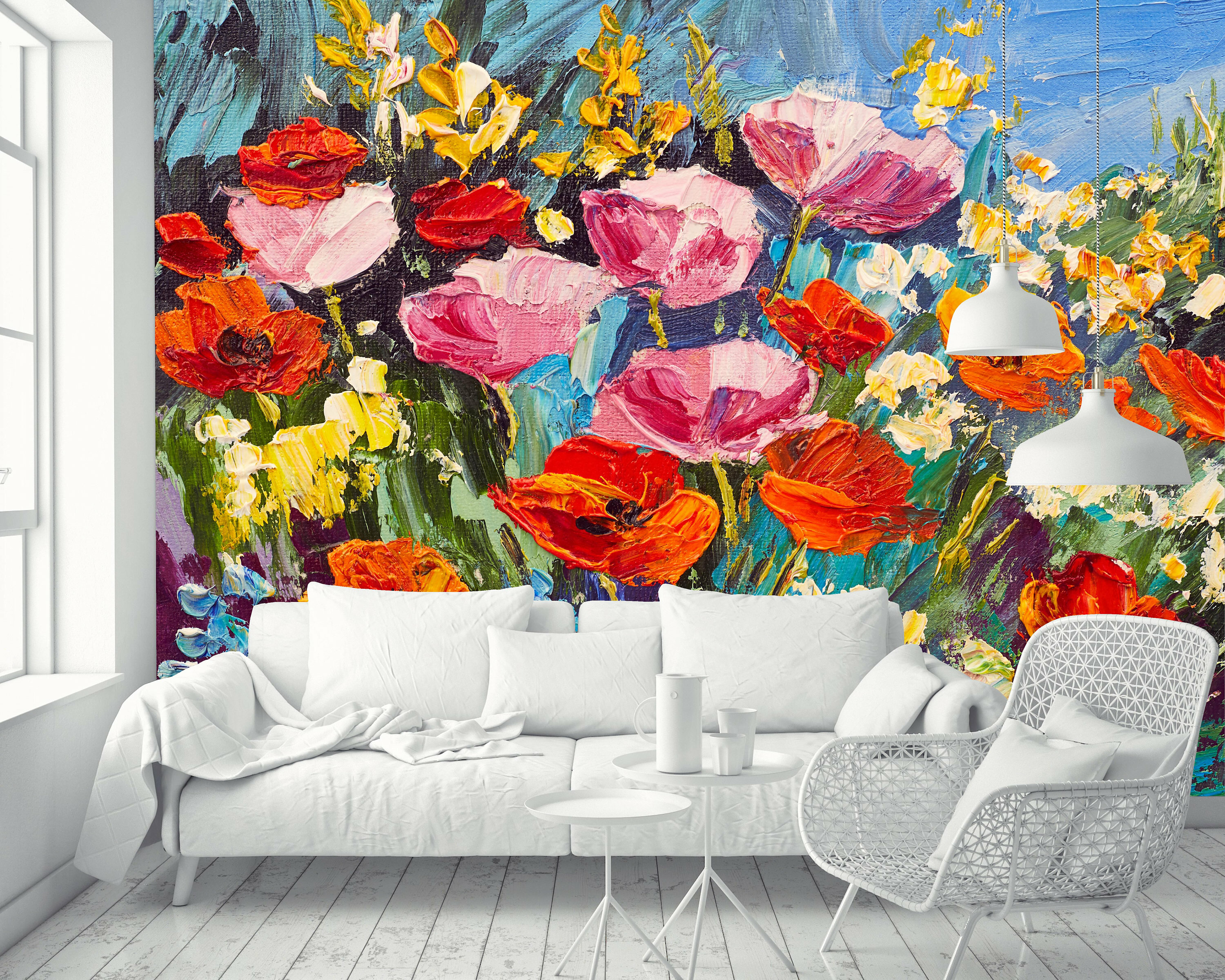 Winston Porter Borba Removable Oil Painting Field Poppies Flowers