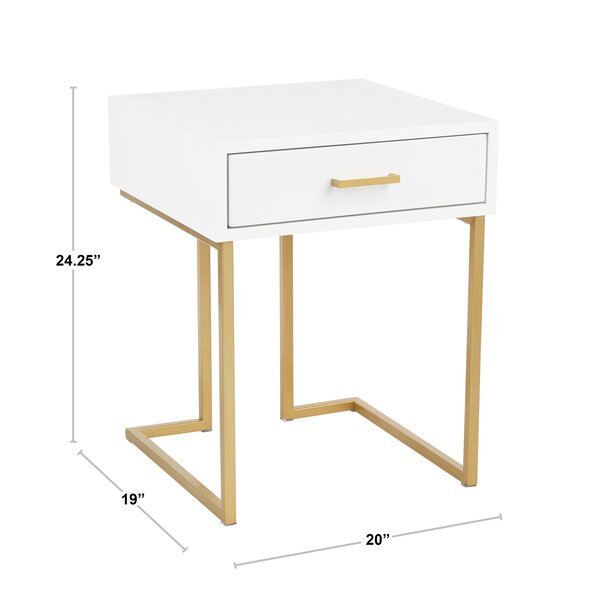 Derek Sled End Table With Storage Reviews Joss Main