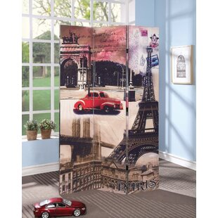 Winston Porter Pagano Paris Scenery 3 Panel Room Divider