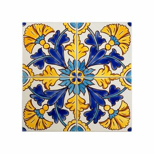 Hand Painted Tiles Youll Love Wayfair - Cobalt blue ceramic tile 4x4