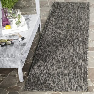 Lefferts Black Indoor/Outdoor Area Rug