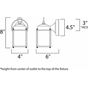 Mannox 1-Light Outdoor Wall Lantern