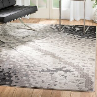 Ross Glamour Mosaic Gray Area Rug byEbern Designs