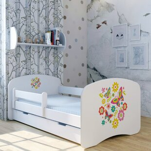 Bright Butterfly Bed With Mattress And Drawer By Zoomie Kids
