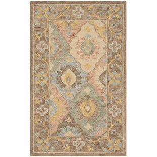 Talmo Hand Hooked Wool Ivory Area Rug byBungalow Rose