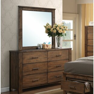 Zoey 6 Drawer Double Dresser with Mirror by Foundry Select