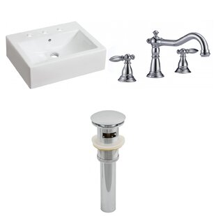 Read Reviews Above Counter Ceramic Rectangular Vessel Bathroom Sink with Faucet and Overflow ByRoyal Purple Bath Kitchen