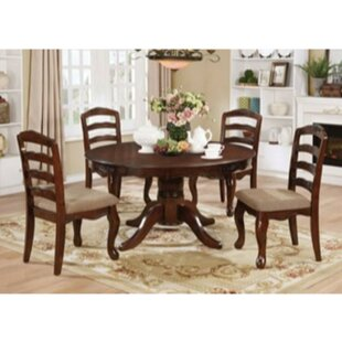 Newbold 5 Piece Solid Wood Dining Set by Charlton Home