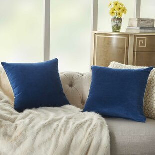Kirtin Solid Throw Pillow Cover (Set of 2)