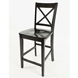 Hammel Wooden Bar Stool (Set of 2) Breakwater Bay