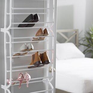 Reviews 12-Tier 36 Pair Overdoor Shoe Organizer By Rebrilliant