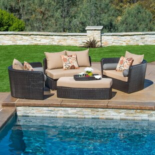 Hazle 4 Piece Sunbrella Sofa Seating Group with Cushions by Brayden Studio