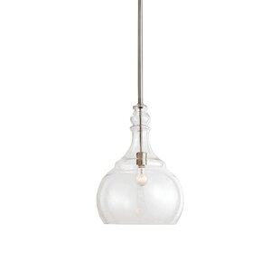 Breakwater Bay Alice Seeded Glass 1 -Light LED Teardrop Pendant