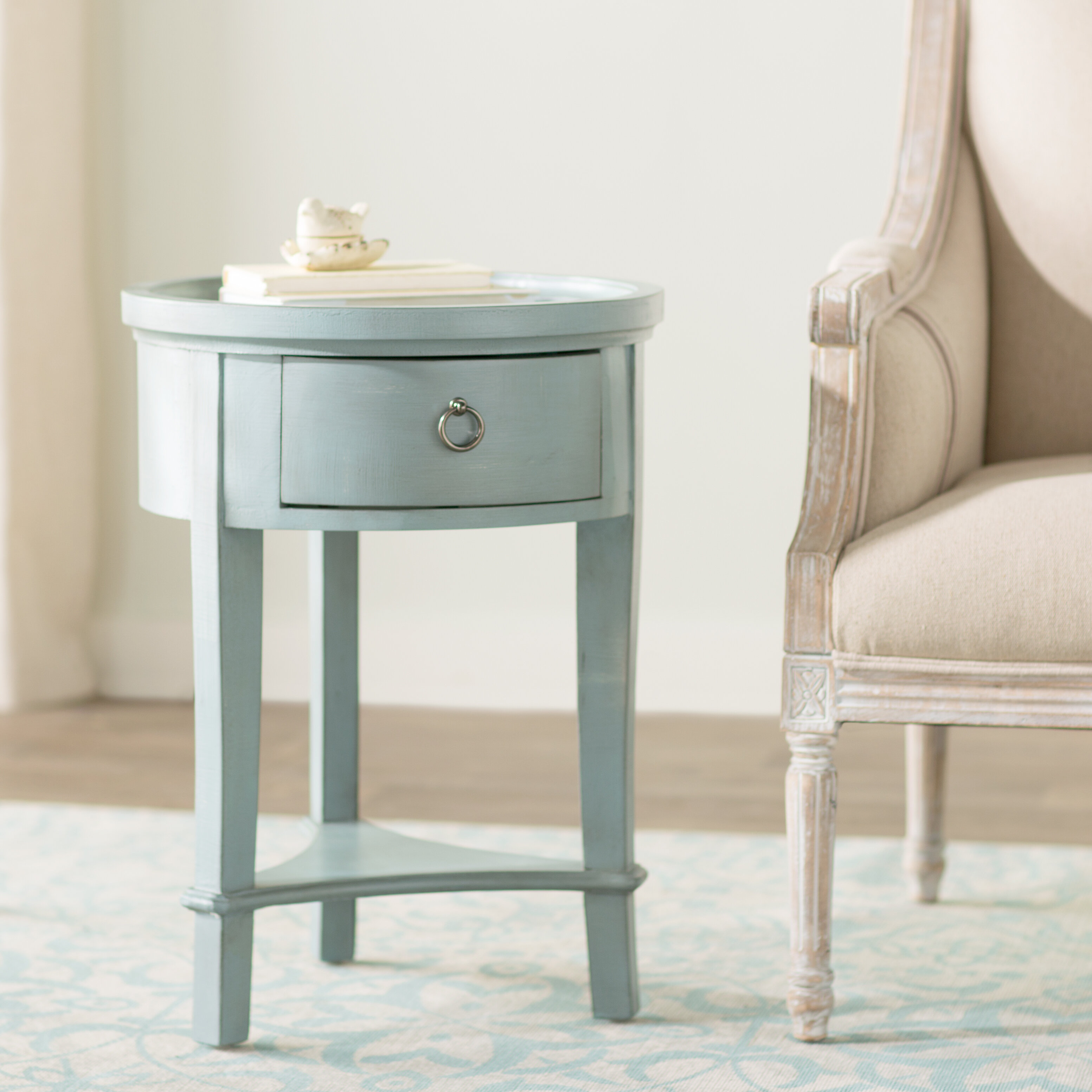 table drum end tables round travertine asp