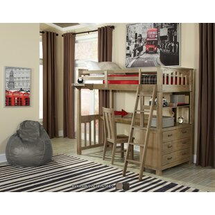 Bedlington Loft Bed With Desk by Greyleigh
