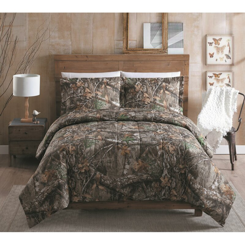 Realtree All Purpose Camo Comforter Set With Sheet And Curtain Option Comforters Bedding Sets Bedding