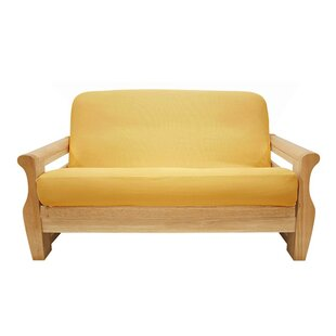 Brushed Sunflower Box Cushion Futon Slipcover