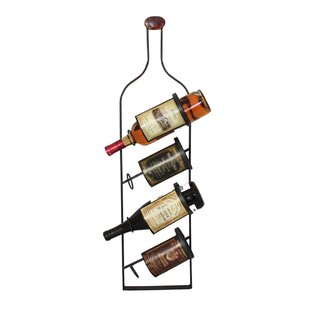 Urban 4 Bottle Wall Mounted Wine Rack by EC World Imports