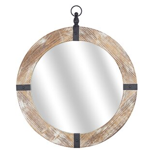 6bec05926393 Lonnie Wood and Metal Porthole Traditional Accent Mirror. by Longshore  Tides.  138.99. FREE Shipping