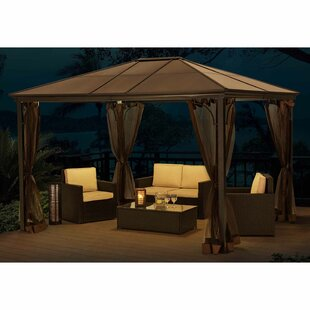 Seville Top 12 Ft. W x 9 Ft. D Metal Patio Gazebo by Sunjoy