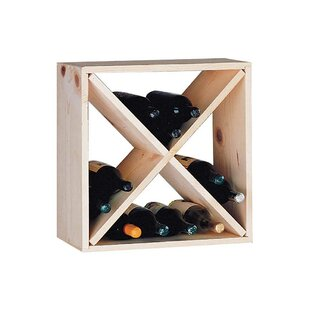 Country Pine Cube 24 Bottle Floor Wine Ra..