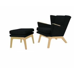 Brayden Studio Haddam Wingback Lounge Chair and Ottoman