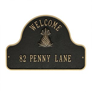 2-Line Wall Address Plaque