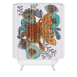 Bungalow Rose Deepak Little Fish Extra Long Shower Curtain