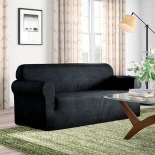 Shop Box Cushion Loveseat Slipcover by Red Barrel Studio