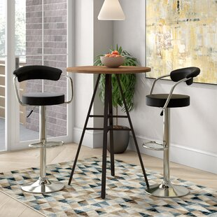 Heim Adjustable Height Swivel Bar Stool (Set of 2)