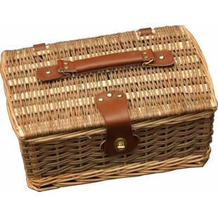 Double Steamed Empty Willow Picnic Basket By Brambly Cottage
