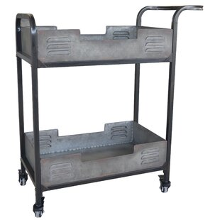 Brower Industrial Metal Bar Cart by Williston Forge