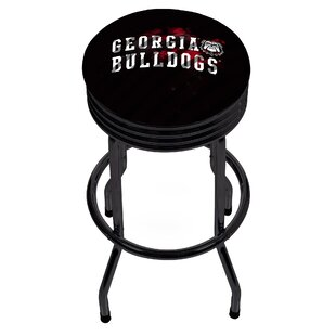 University of Georgia Ribbed 28.5 Swivel Bar Stool Trademark Global
