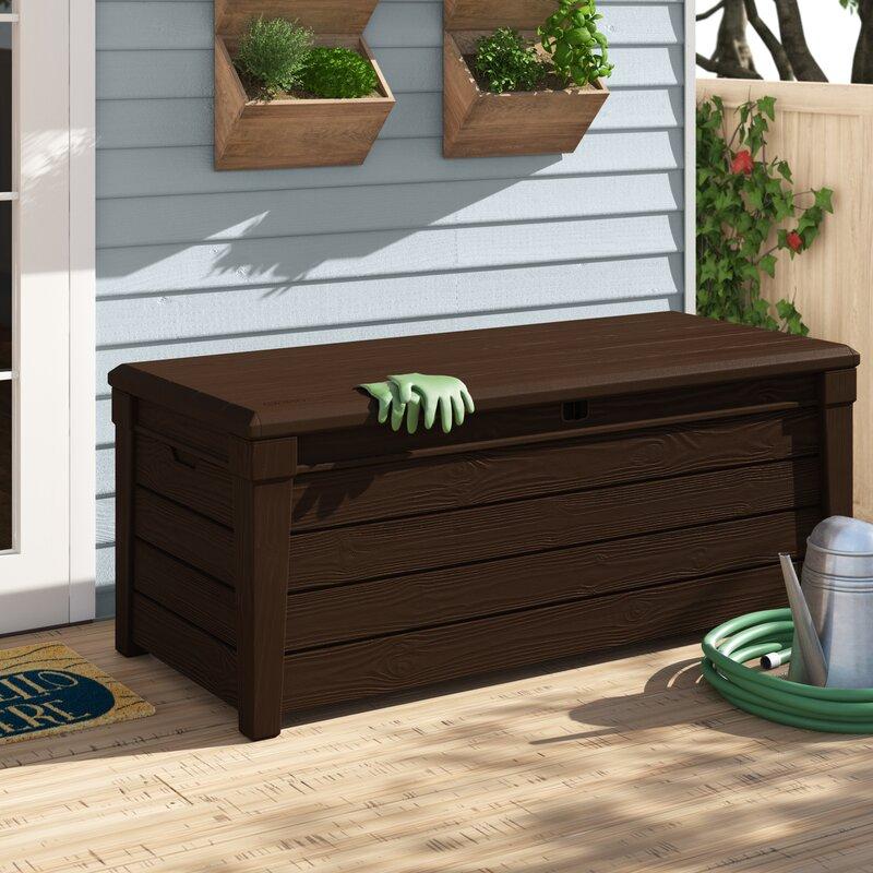Keter Brightwood 120 Gallon Resin Deck Box