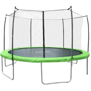 Pure Fun 15' W Dura-Bounce Round Trampoline with Safety Enclosure