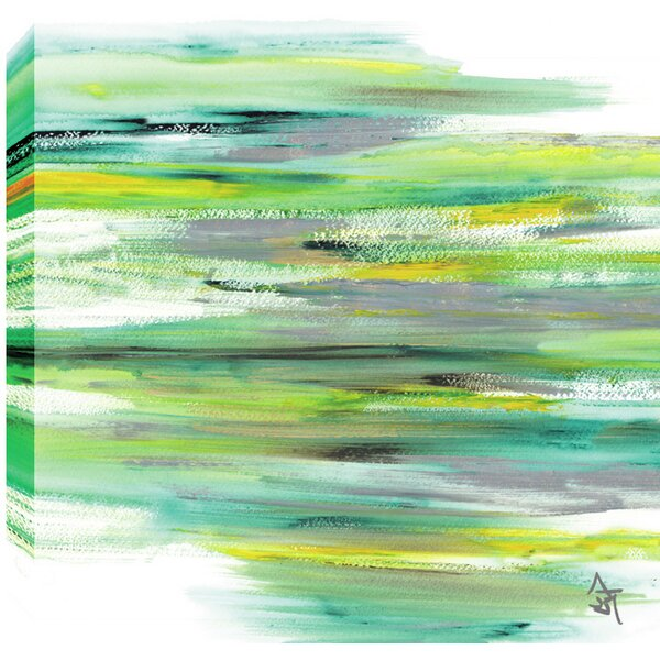 'Green View Abstract' by Sanjay Patel Painting Print on Wrapped Canvas