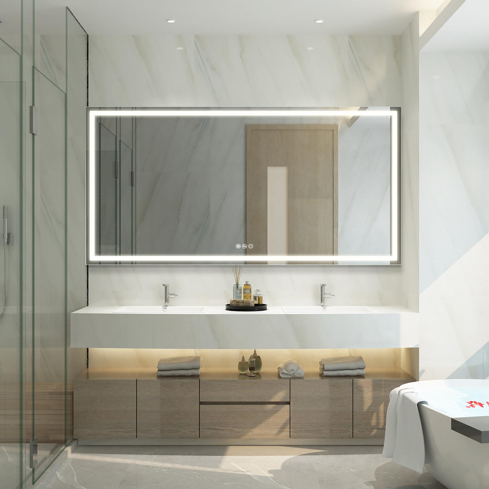 Boyel Living Modern Led Lighted Bathroom Mirror Wayfair