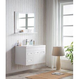 Reviews Pete 36 Wall Mount Single Bathroom Vanity Set ByOrren Ellis