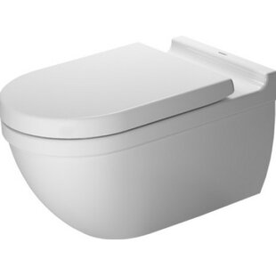 Starck Wall Mounted Durfix Washdown Dual Flush Elongated Toilet Bowl (Seat Not Included) by Duravit