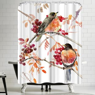 Suren Nersisyan American Robin Single Shower Curtain